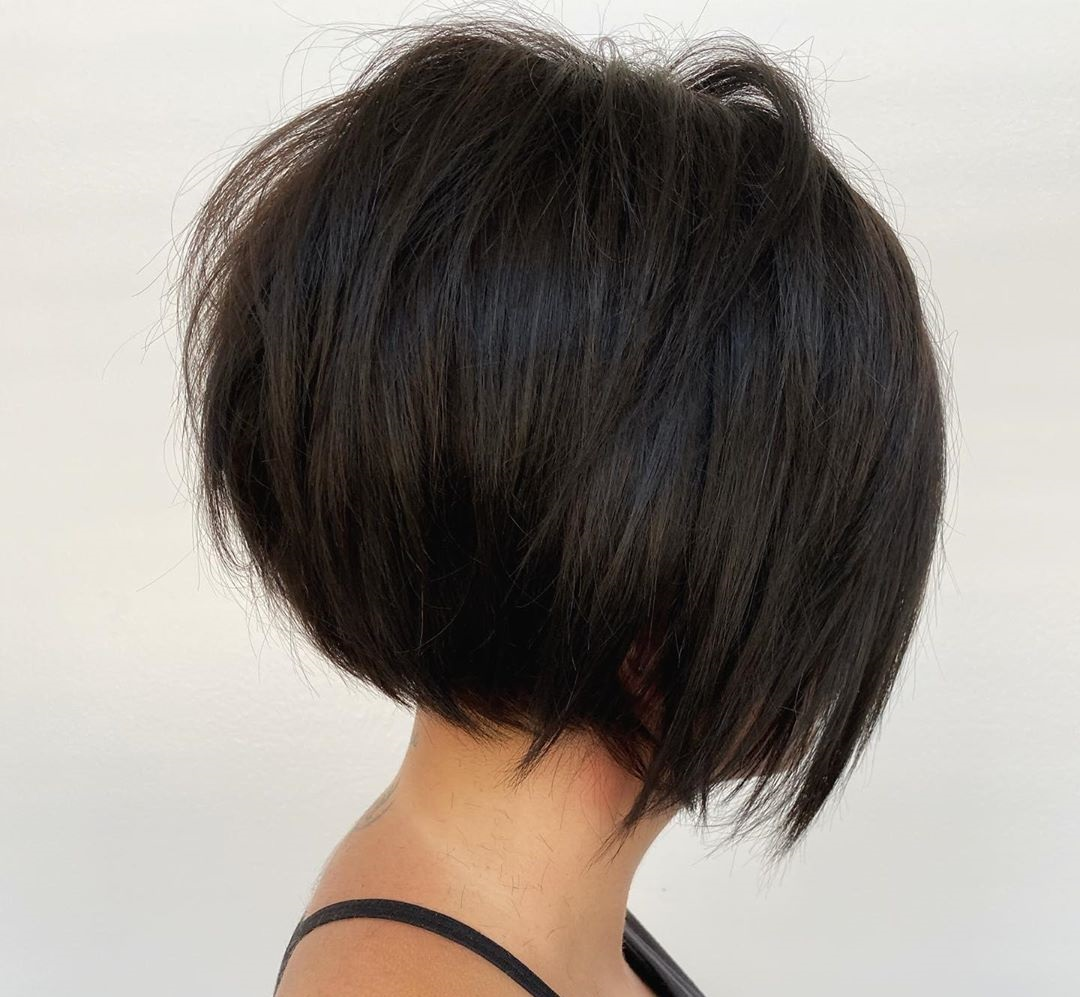 Wispy Messy Inverted Bob
