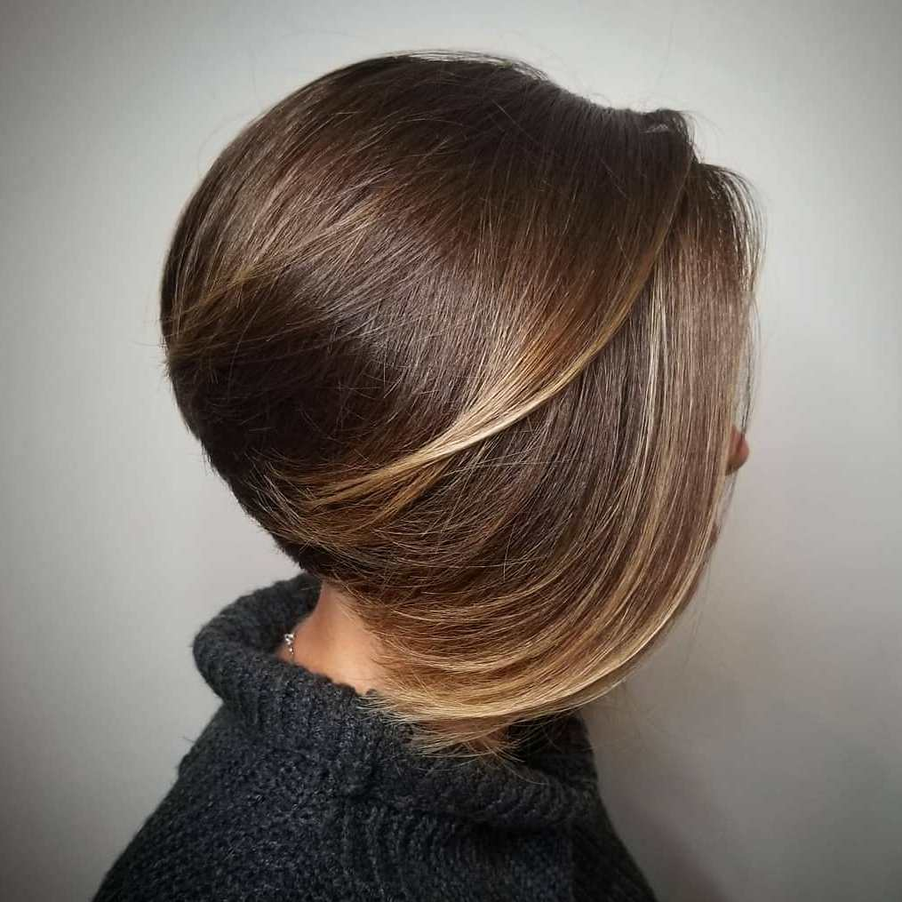 Stacked Bob with Swoopy Layers