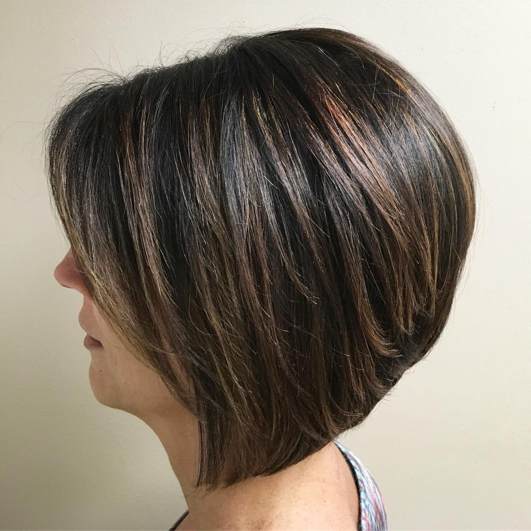 Voluminous Stacked Bob Side View