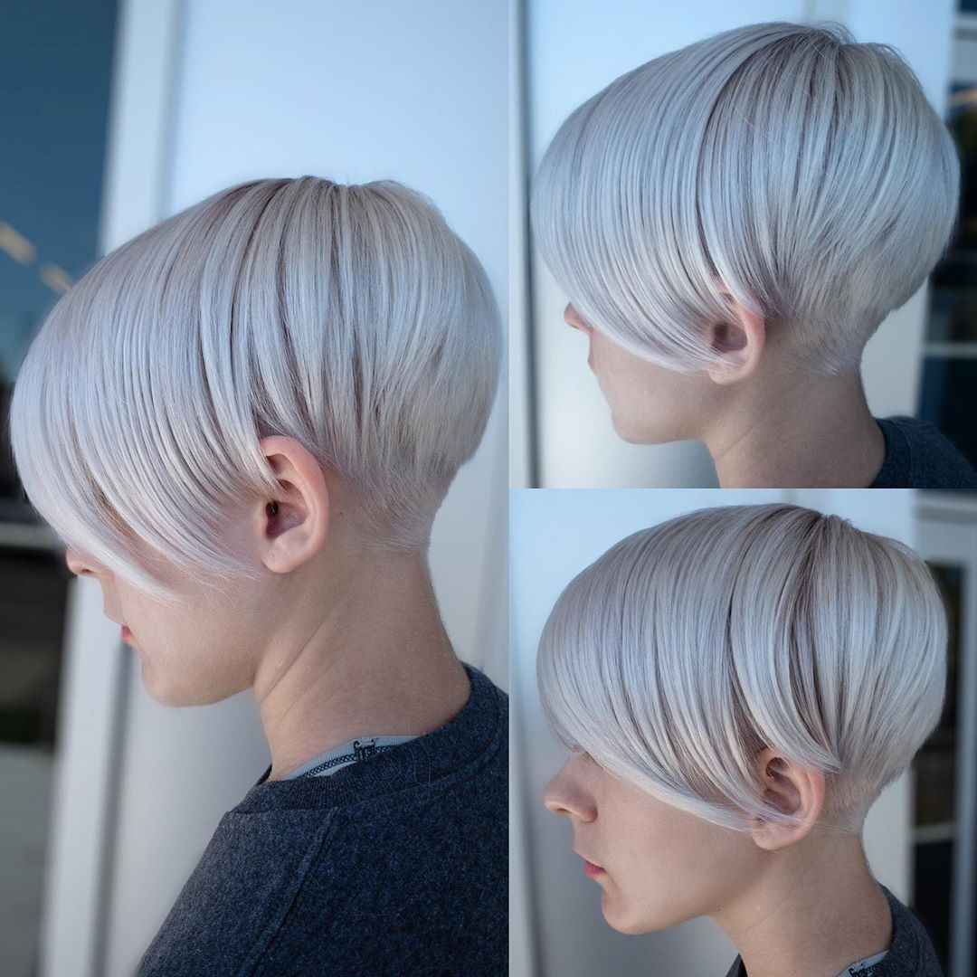 Undercut Pixie with Bangs for Fine Hair
