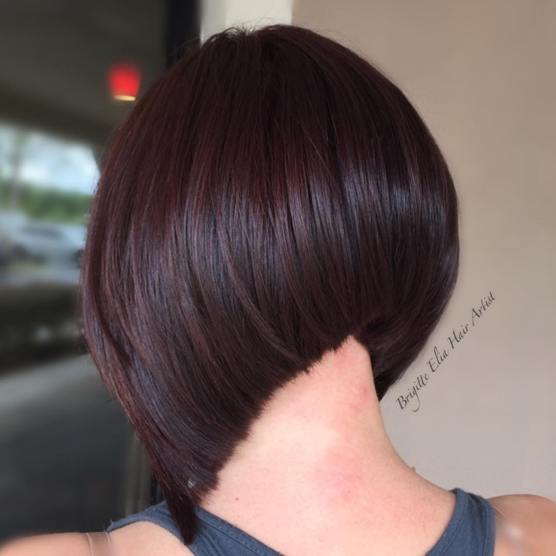 Rounded Steeply Angled Bob
