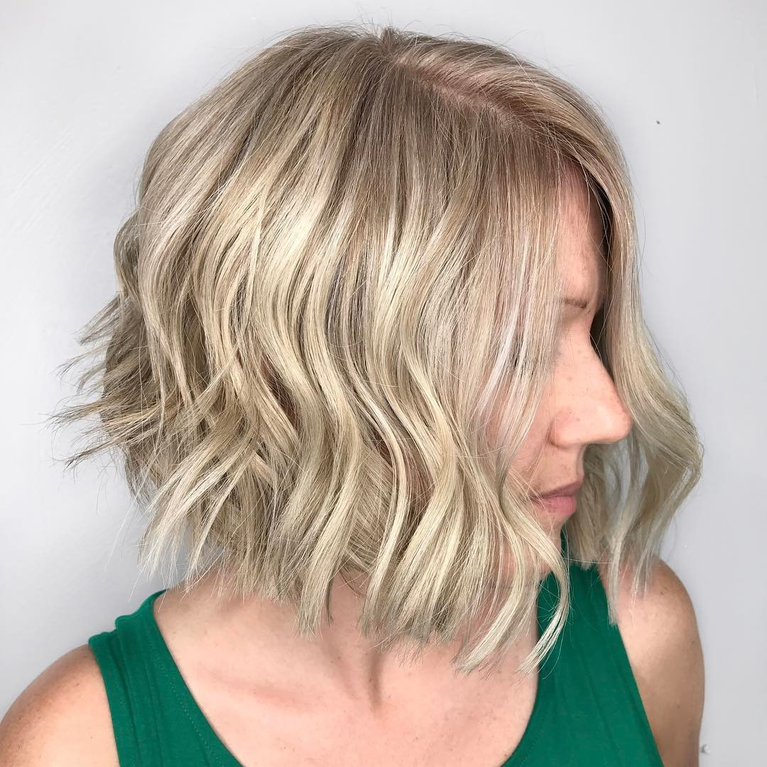 Blonde Bob with Loose Waves