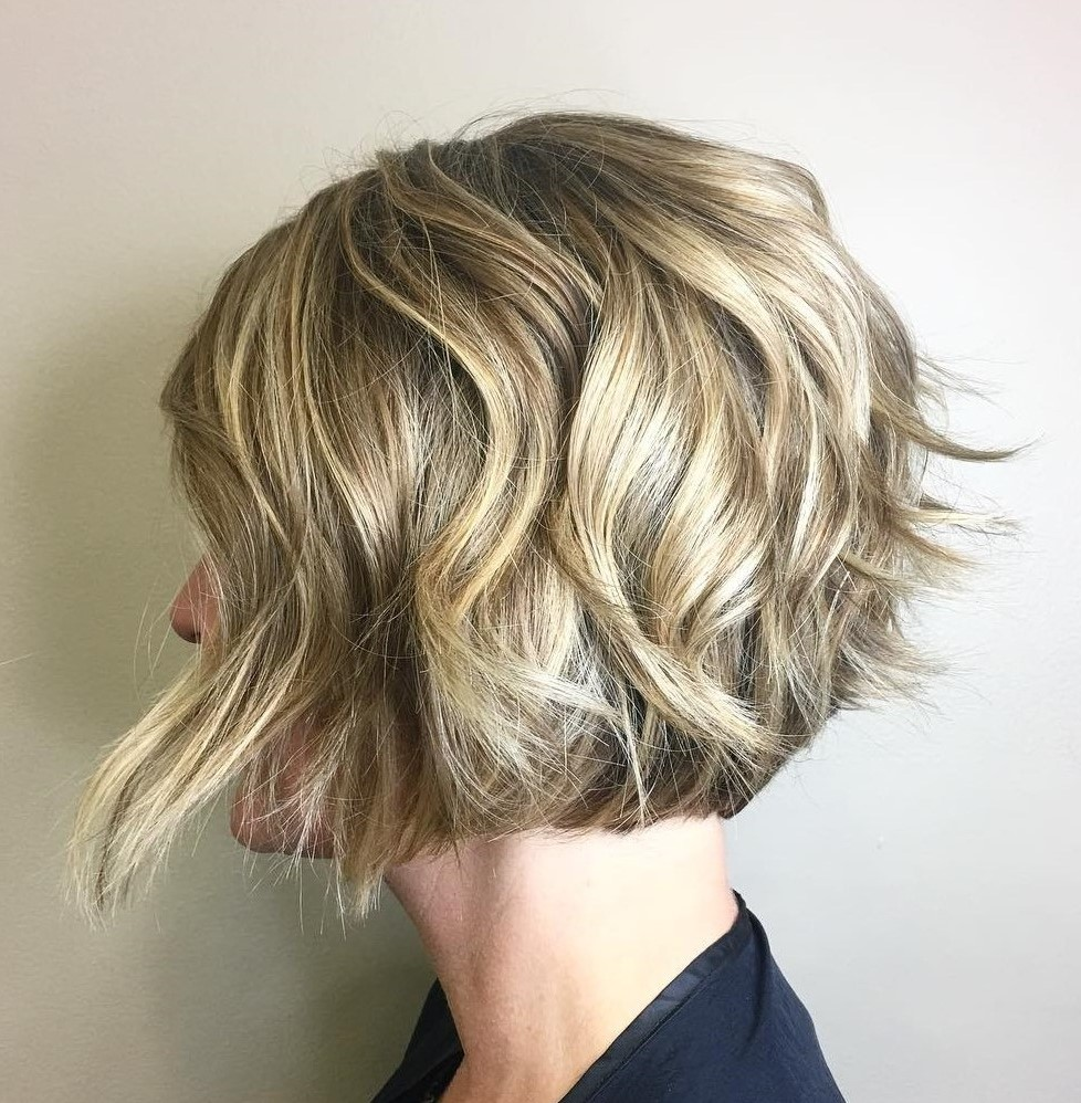 Short Bob with Messy Waves