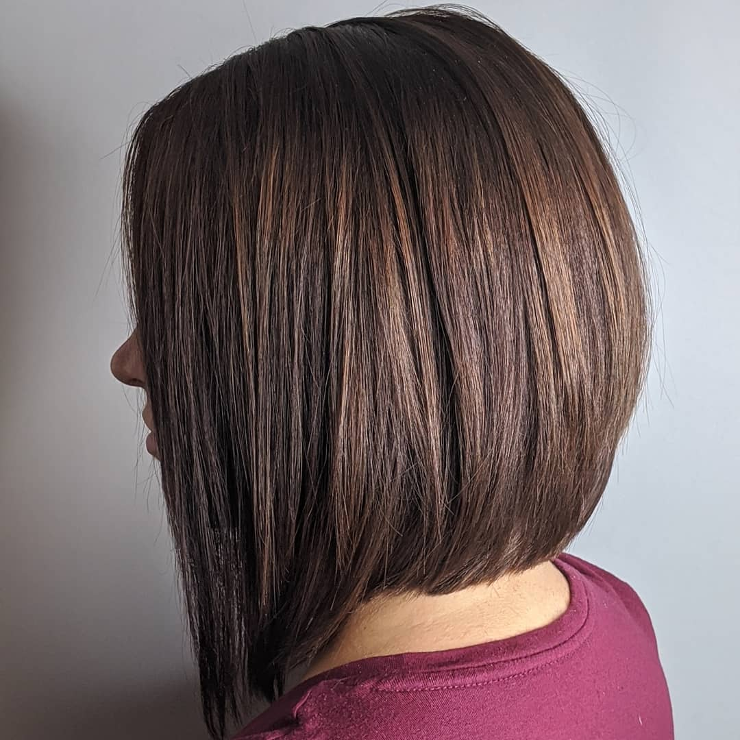 Straight Neck-Length Inverted Bob
