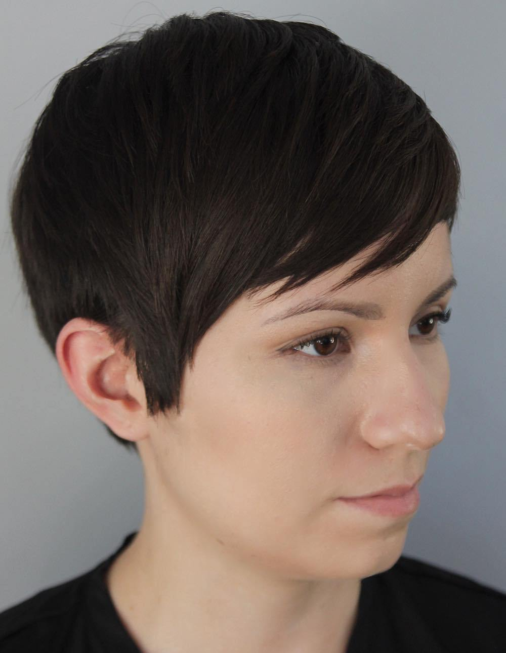 Short Choppy Pixie Cut with Bangs