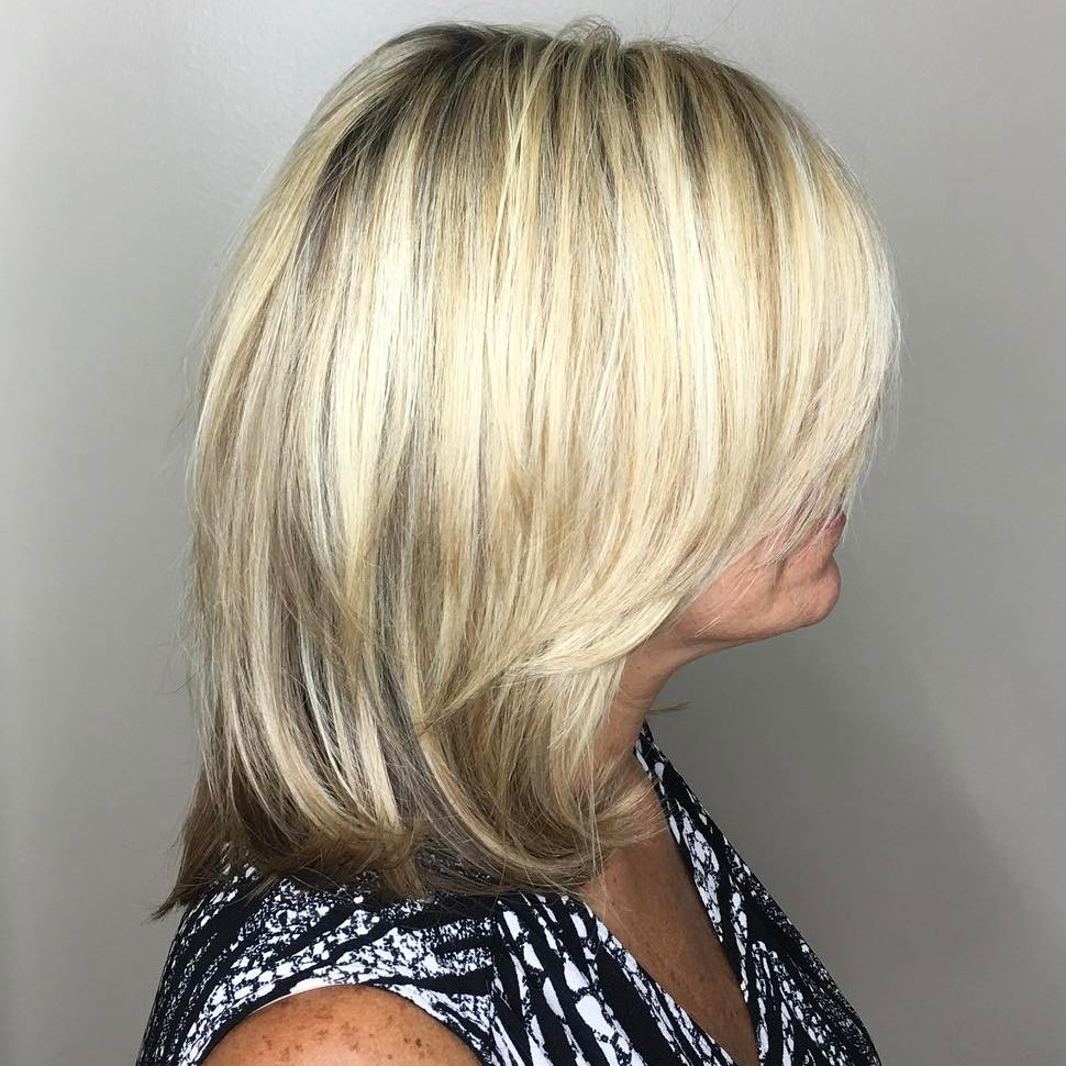 Medium-Length Blonde Cut
