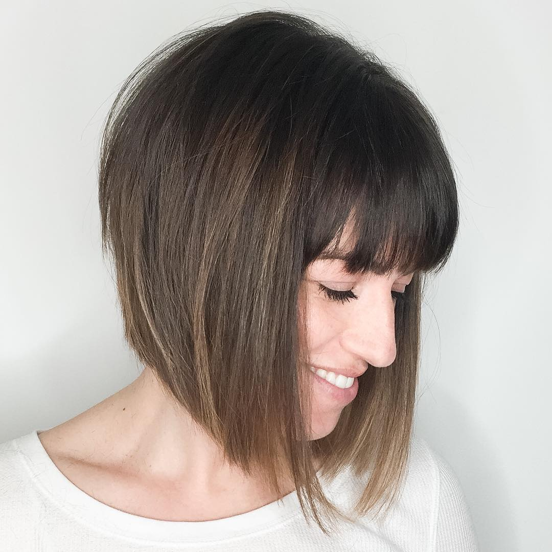 Chic Edgy A-Line Bob with Bangs