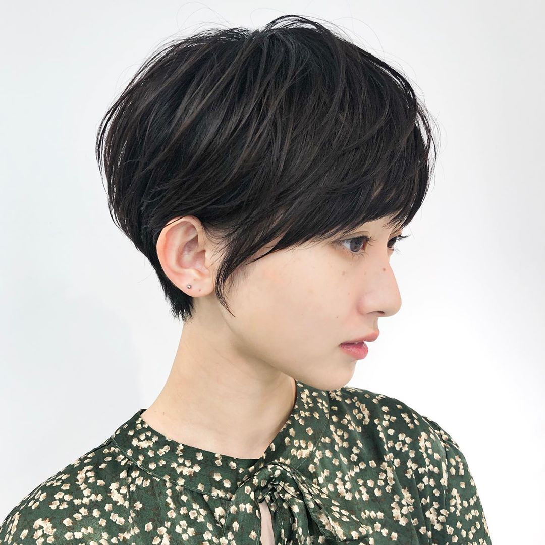 Textured Pixie Bob with Layers and Bangs