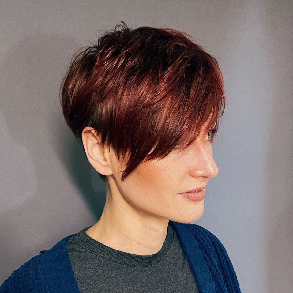 Short Choppy Pixie with Side Bangs