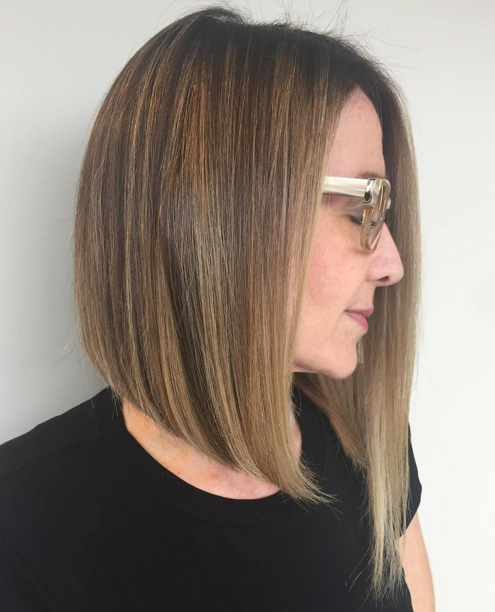 Smooth Asymmetrical Pin-Straight Bob
