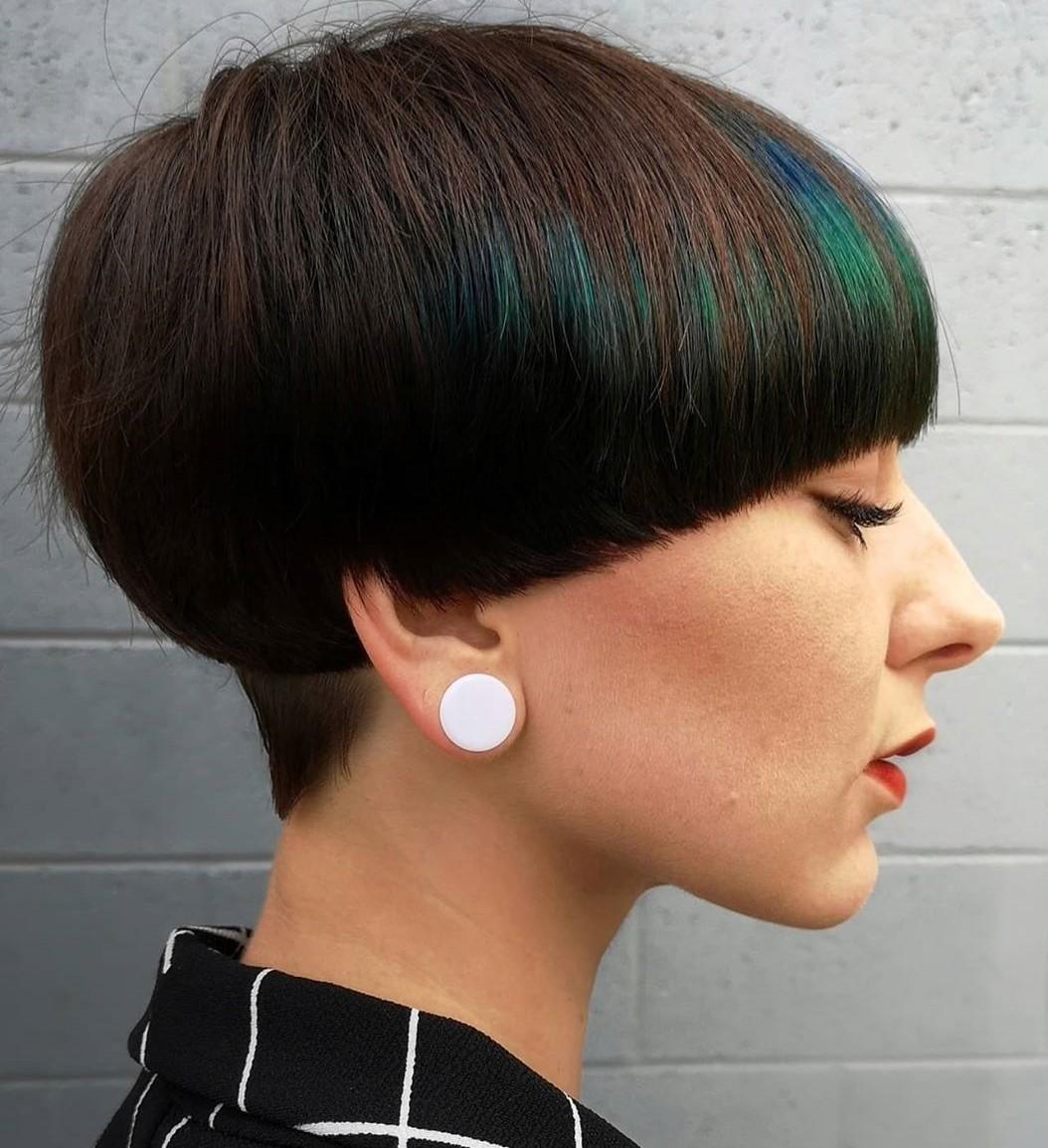 Accurate Mushroom Cut Pixie with Bangs