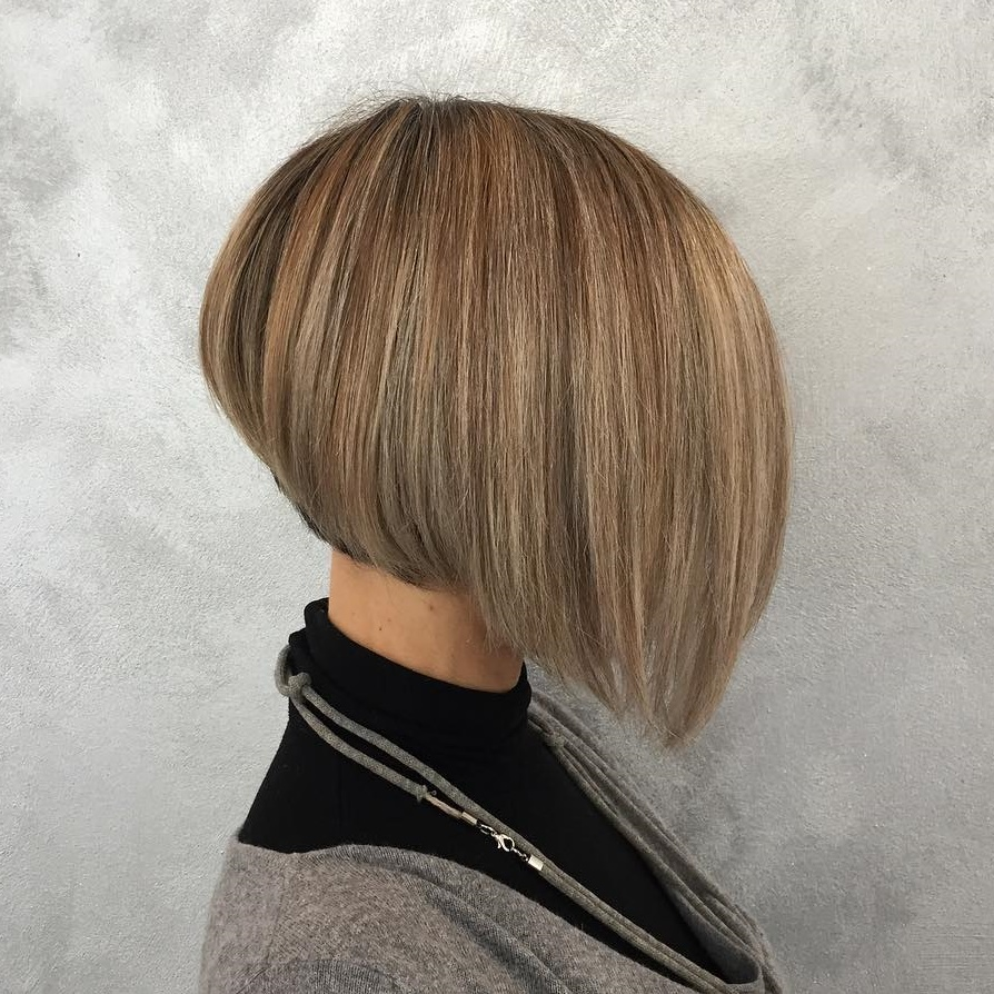 Cool Angled Stacked Neckline Bob