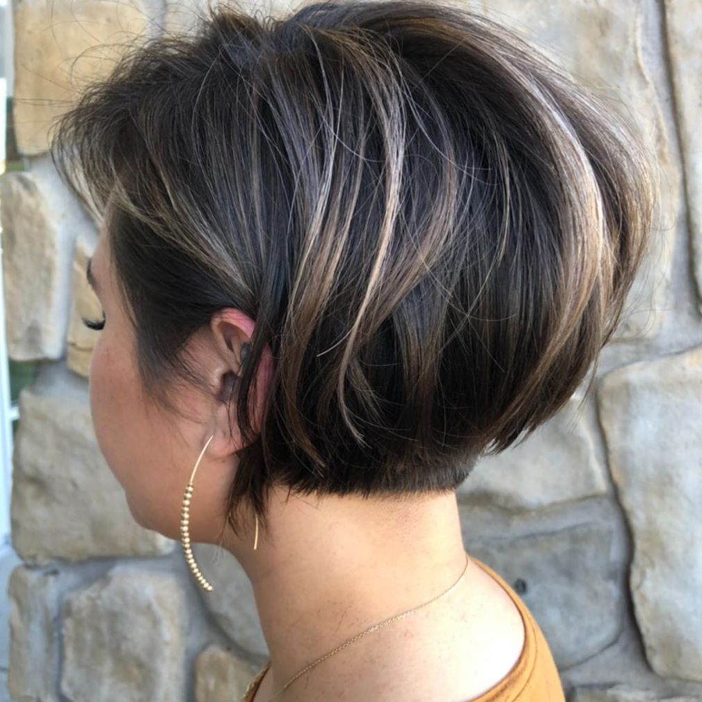 Stacked Pixie Bob with Highlights