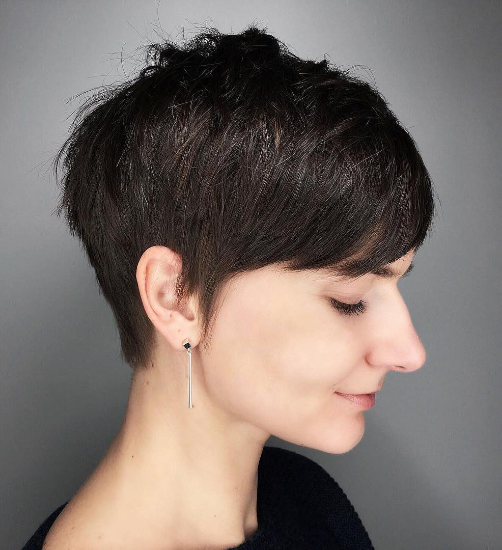 Soft Short Pixie with Side-Swept Bangs