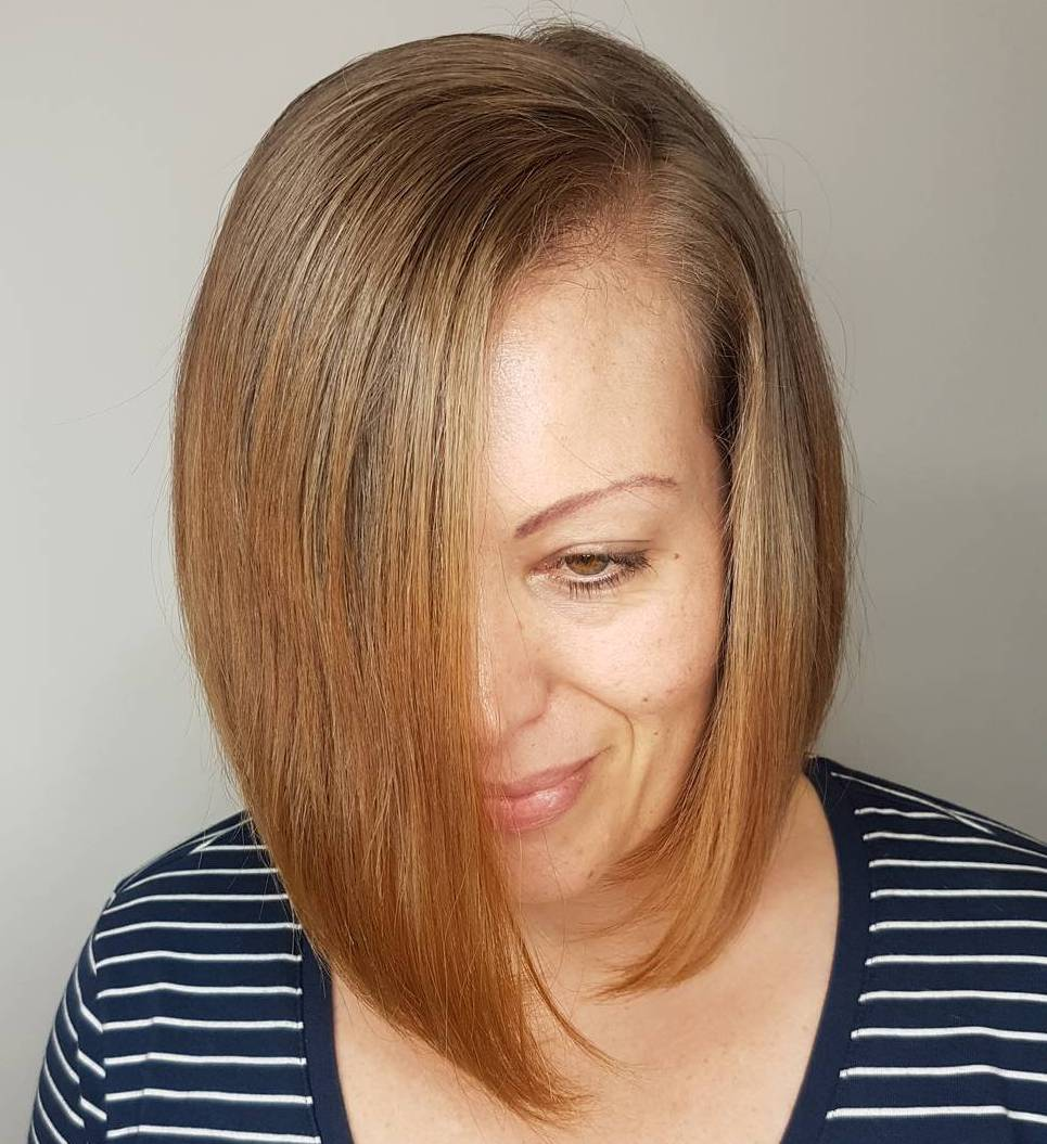 Side-Parted Asymmetrical Bob
