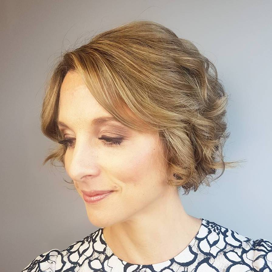 Short Trendy Curly Bob