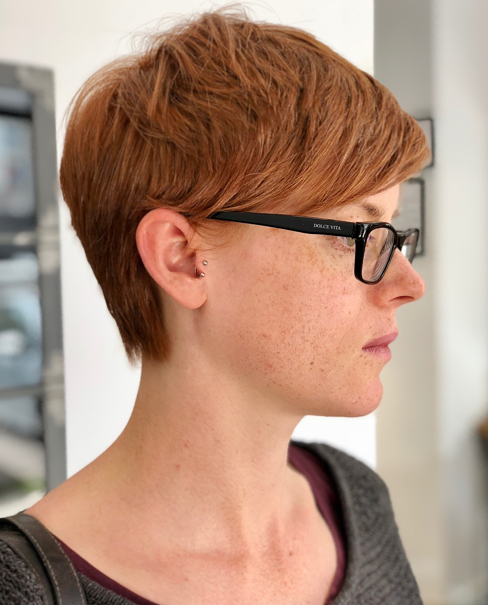 Short Red Pixie Cut