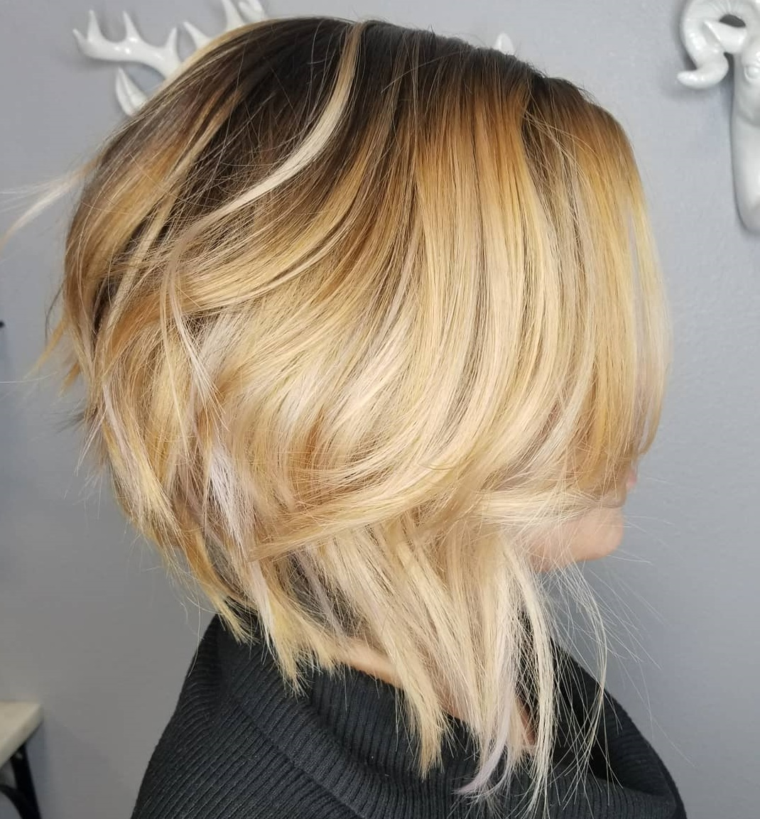 Perfectly Imperfect Angled Bob