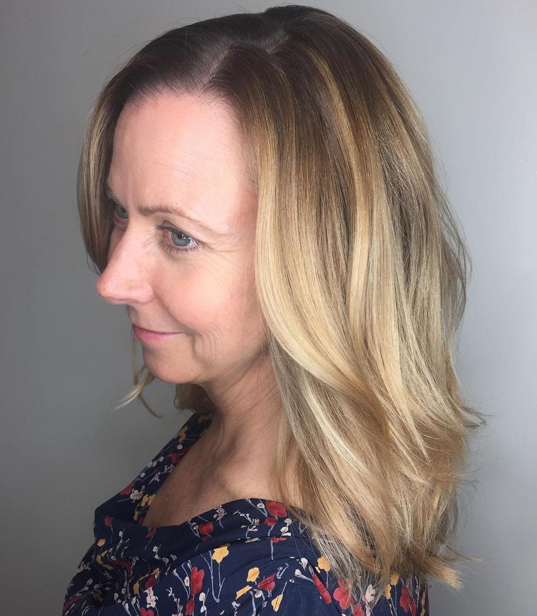 Long Blonde Balayage Hairstyle