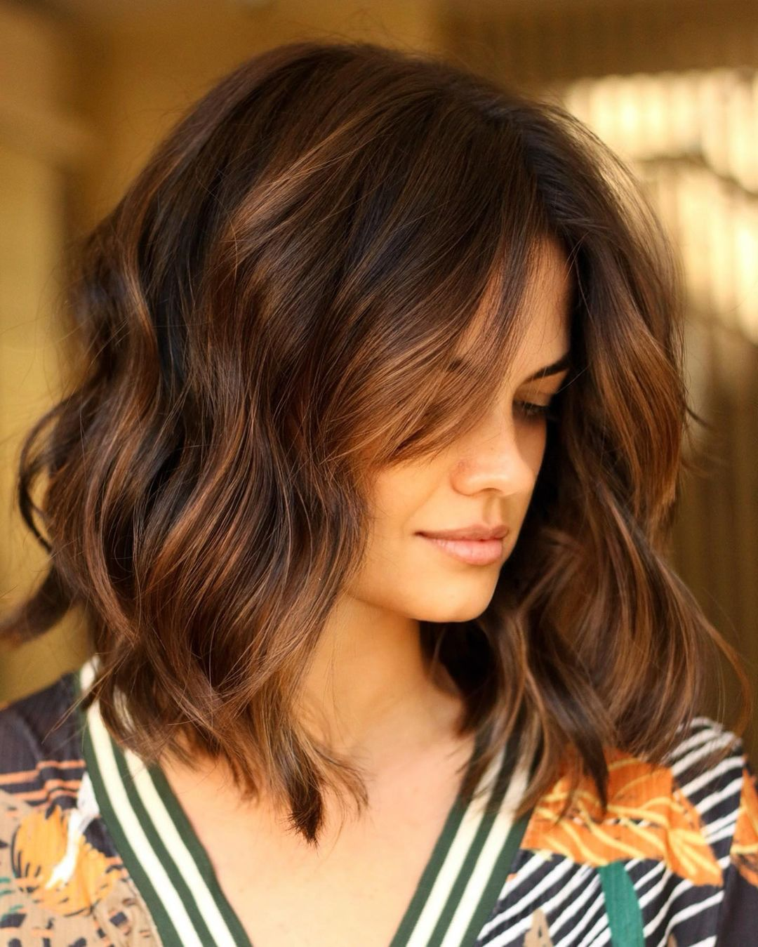 Wavy Lob with Highlights