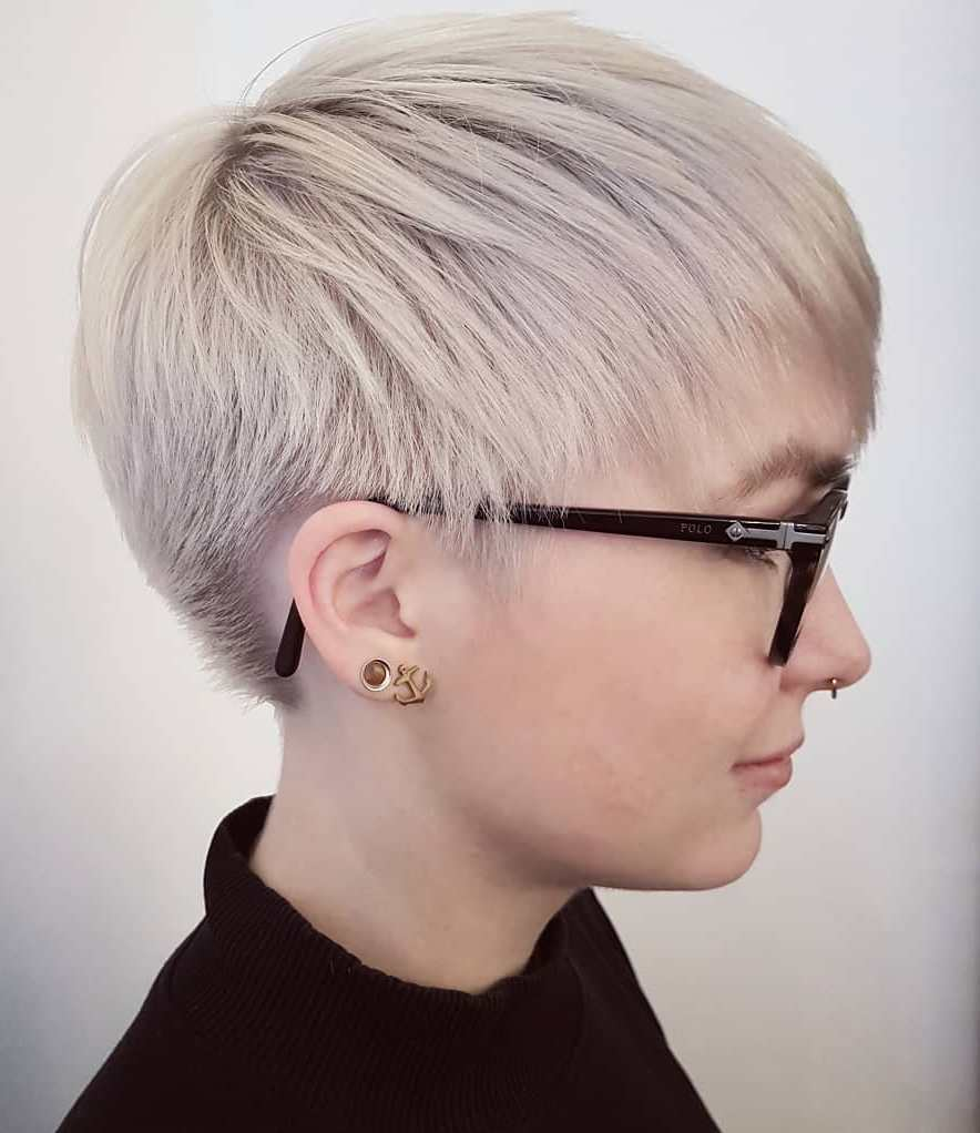 Pixie with a Short Nape and Long Bangs
