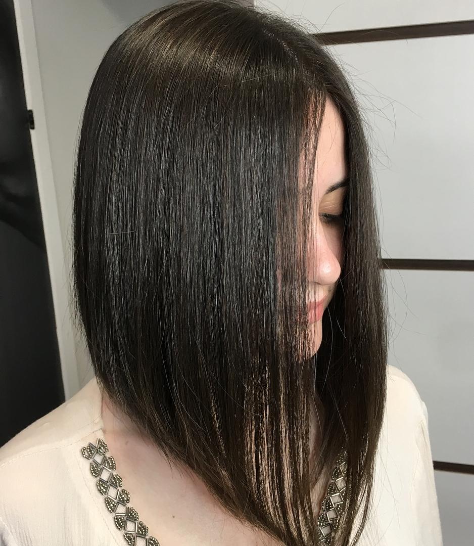 A-line Lob for Thin Hair