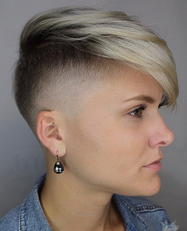Women's Fade with Long Bangs