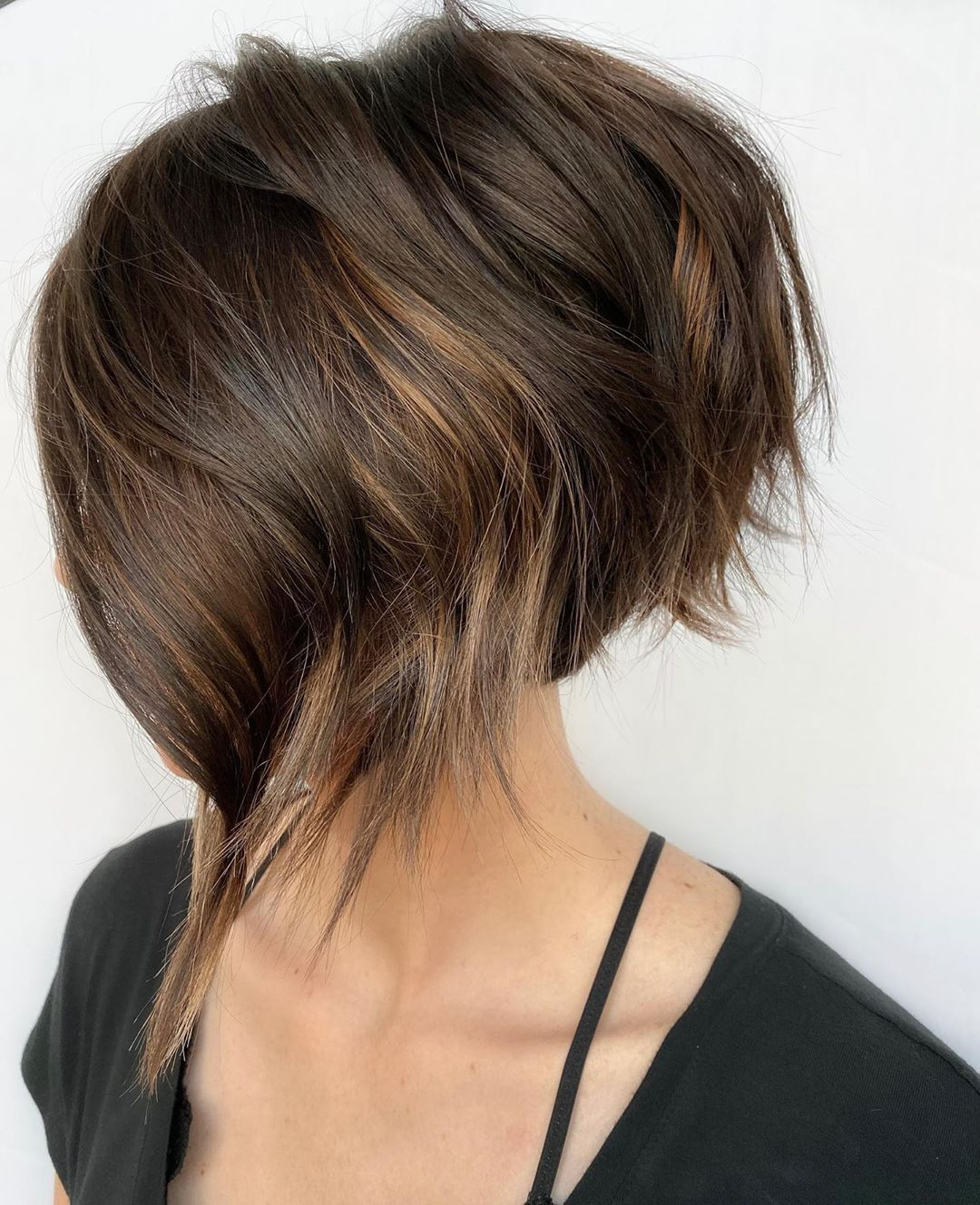 Stacked Bob with Beachy Waves