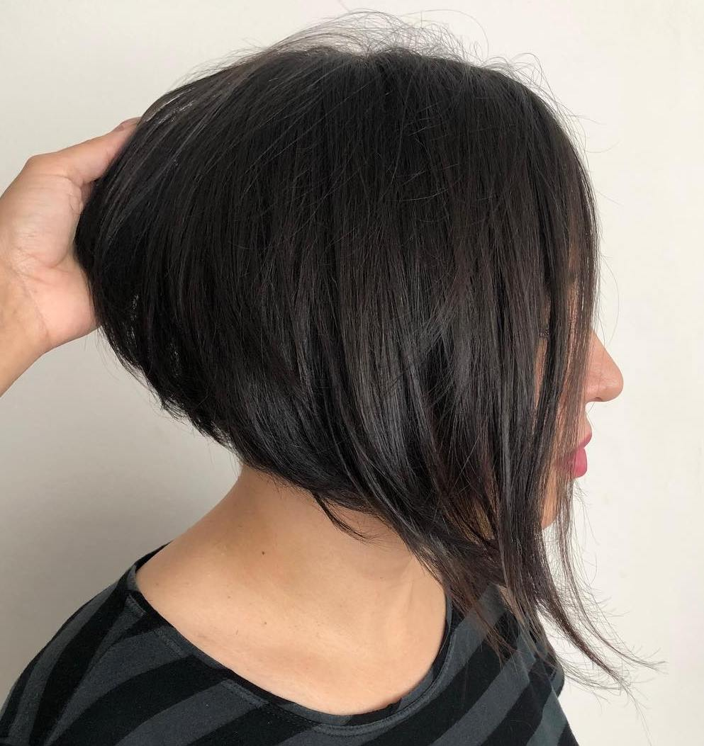 Black Stacked Inverted Bob