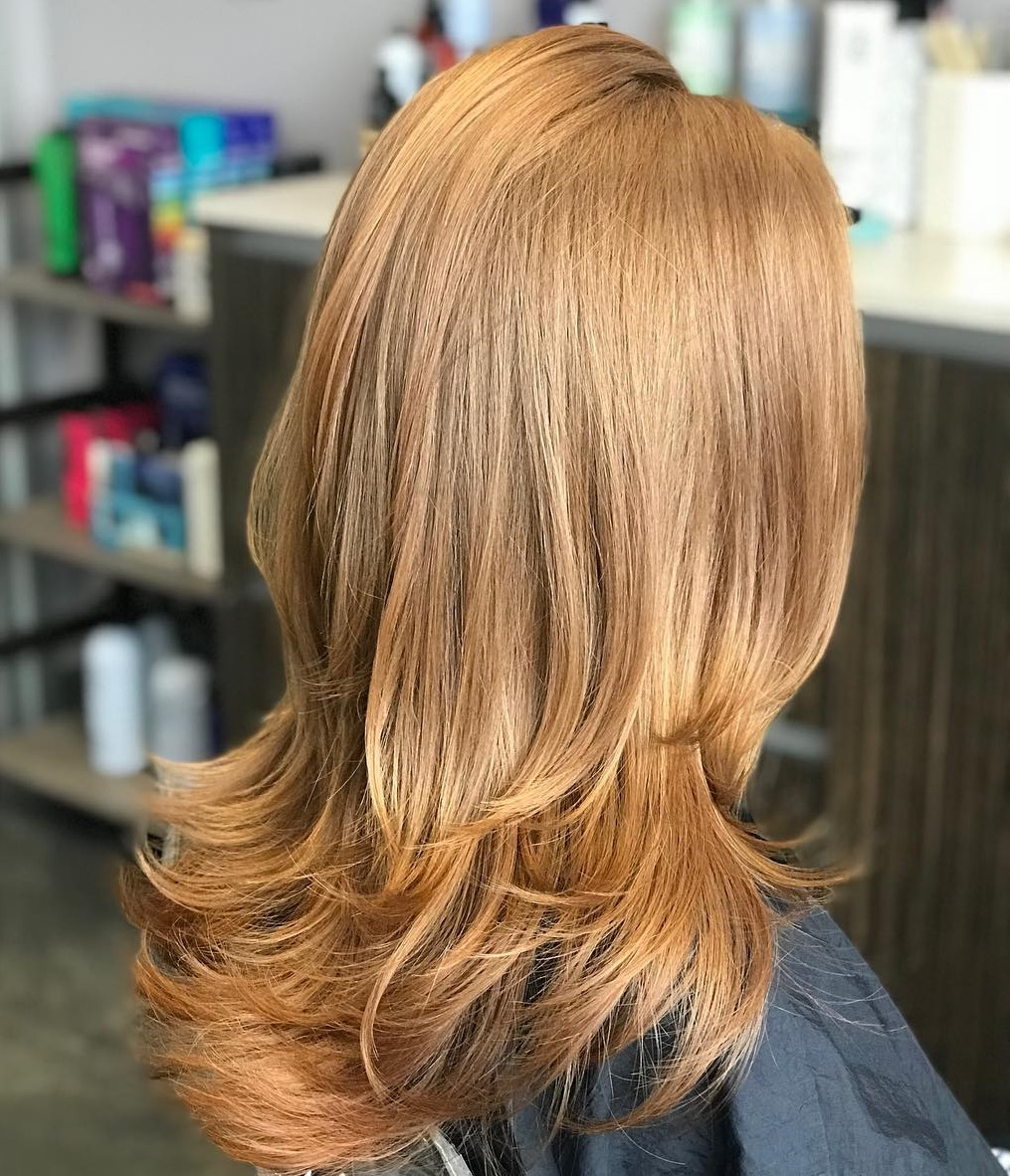 Ginger Red Hair with Flipped Up Ends