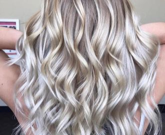 Blonde and Silver Balayage Hair