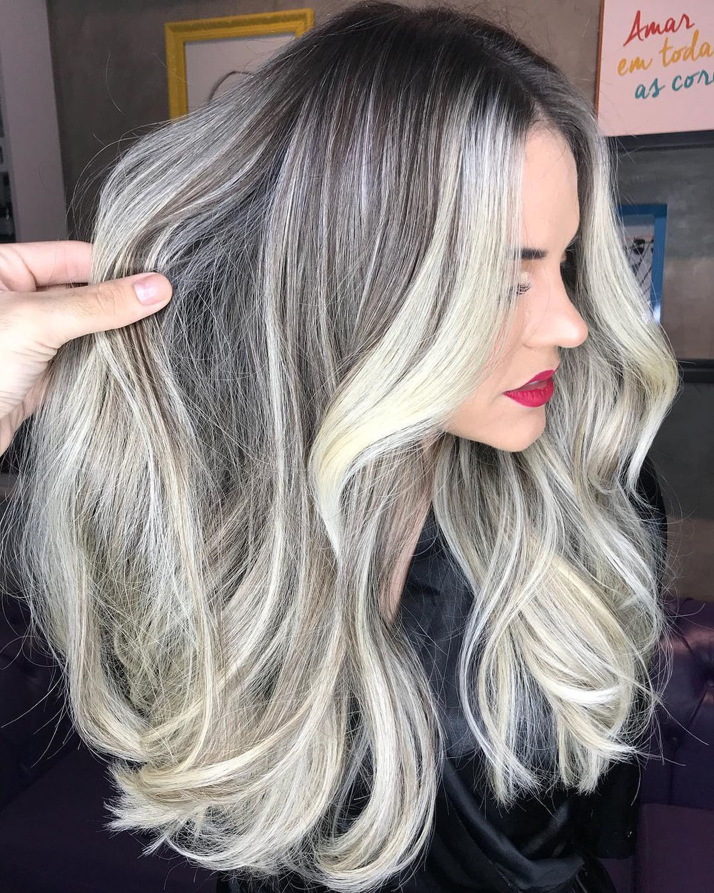 Silver and Blonde Highlights