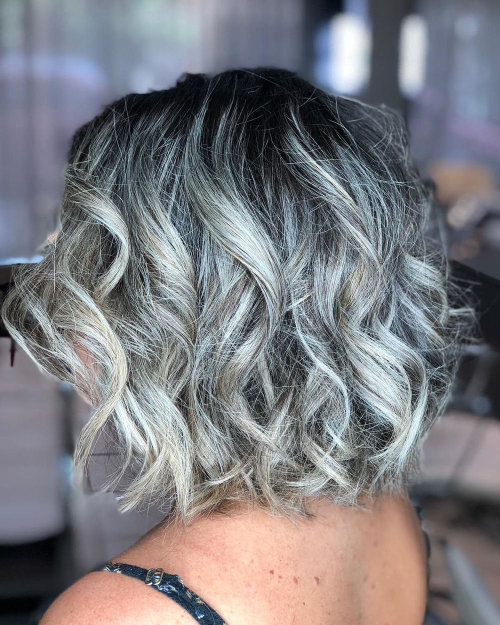 Beachy Bob with Gray Highlights