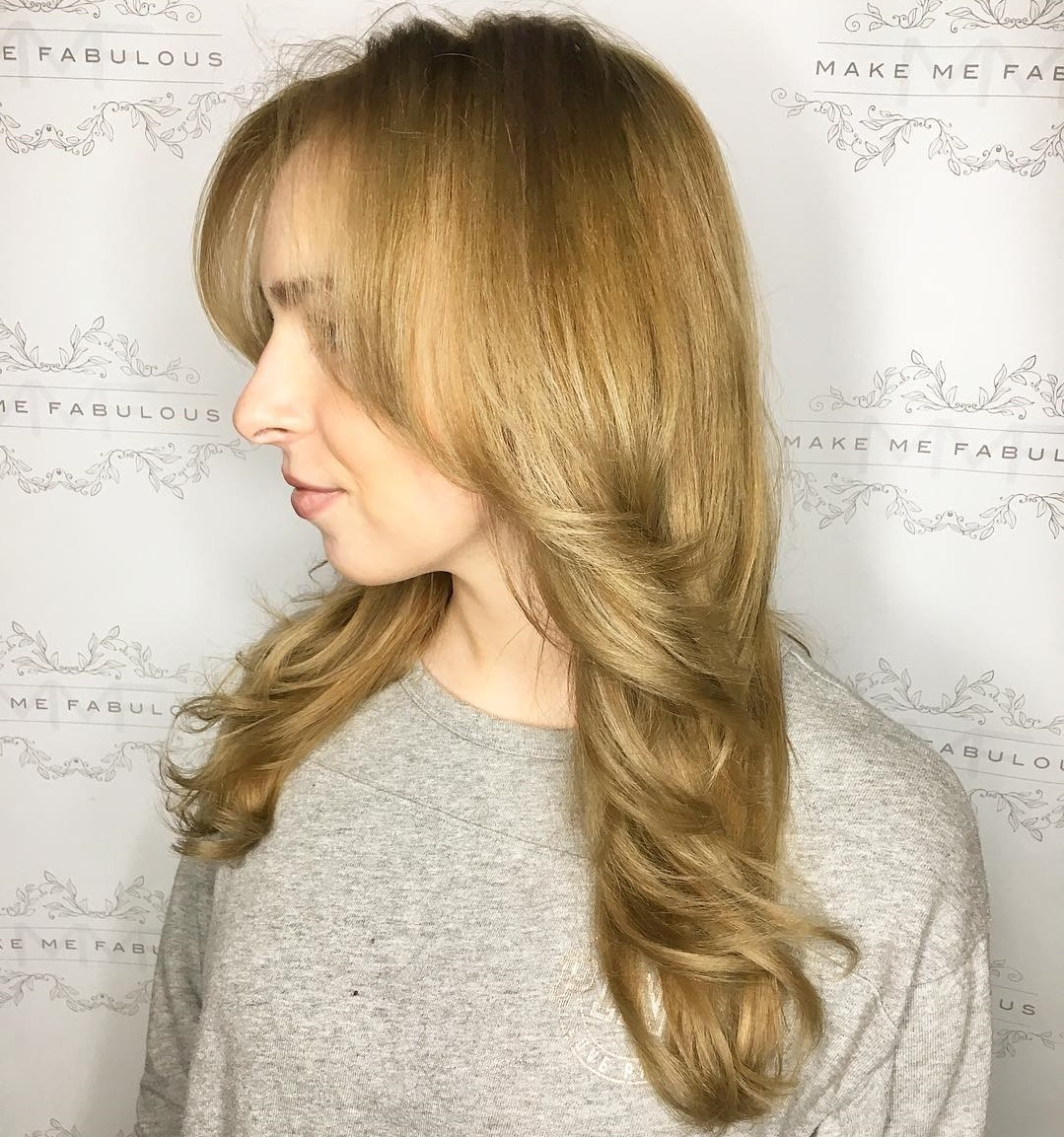 Formal Long Golden Blonde Hairstyle