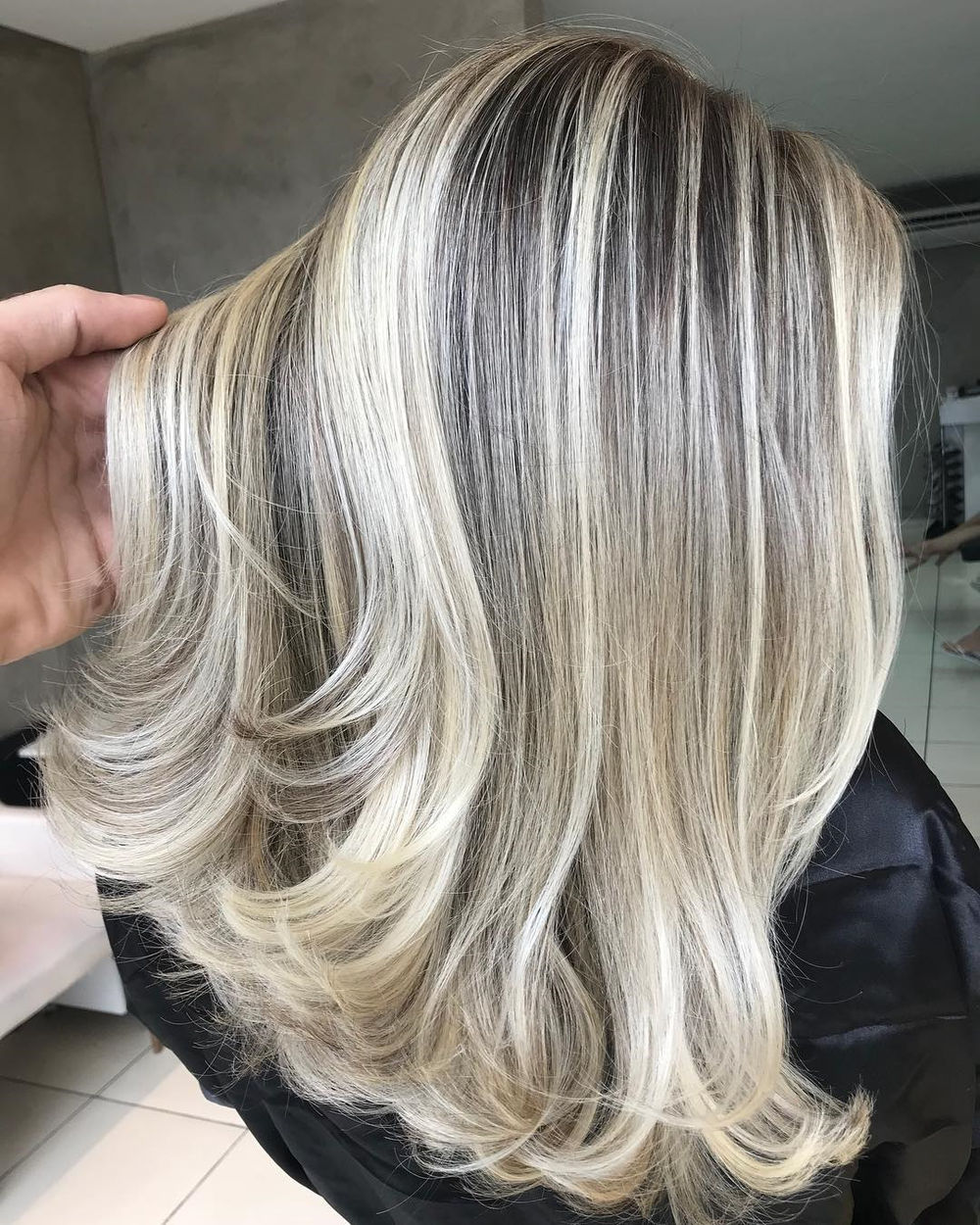 Pearl Blonde Highlights for Bronde Hair