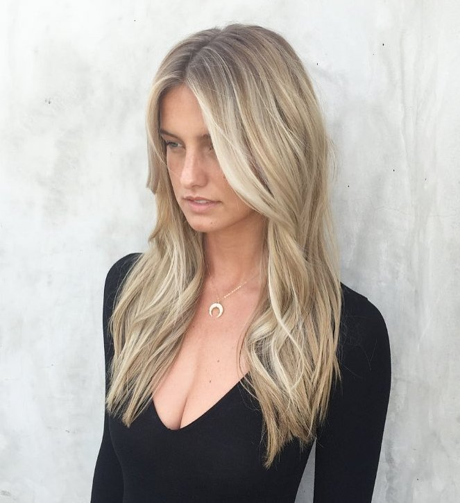 Long Beach Blonde Hair with Highlights
