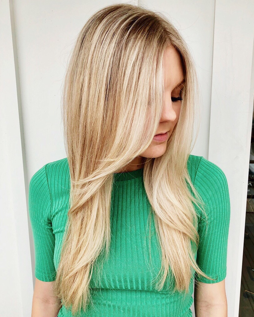 Long Caramel Blonde Hairstyle
