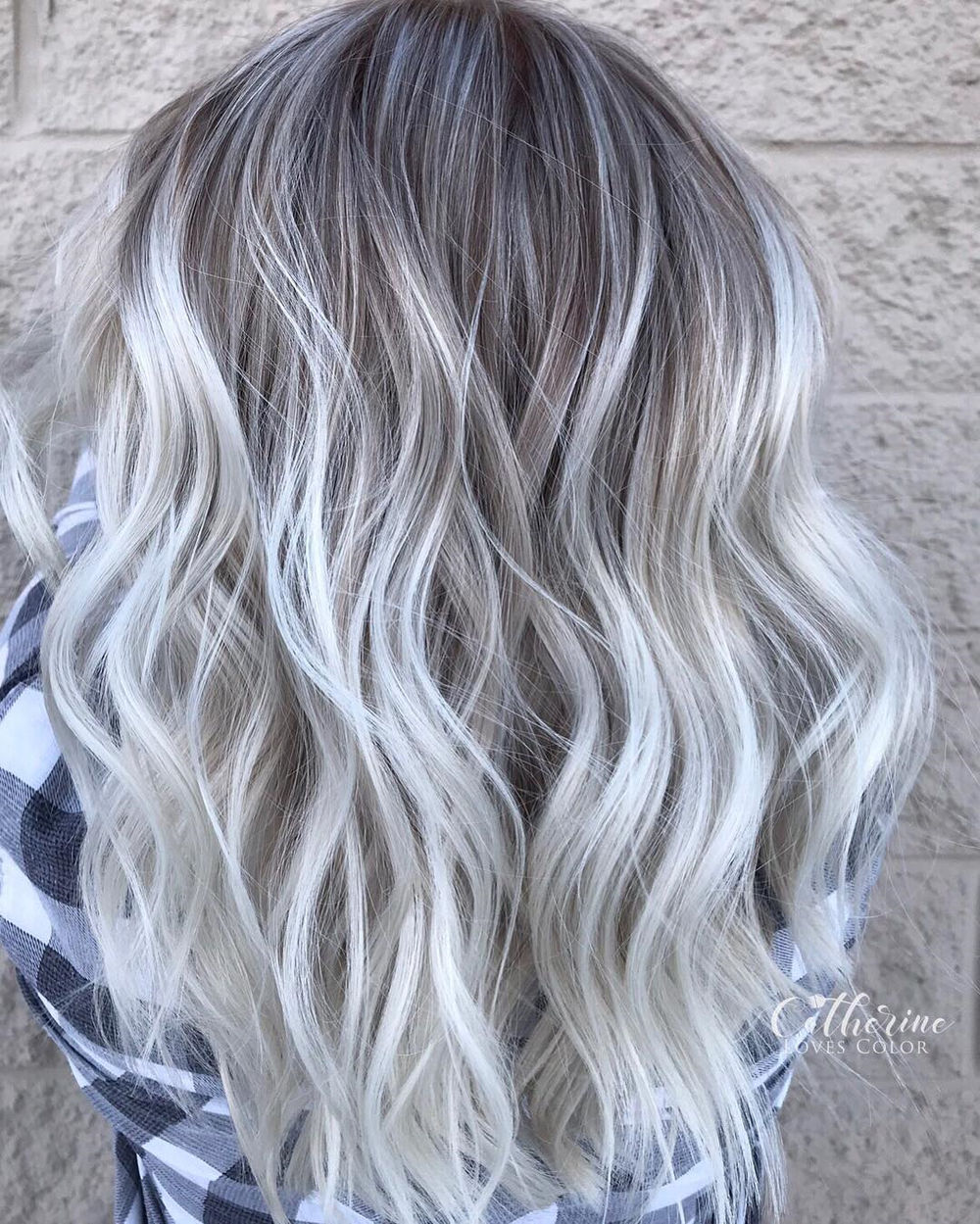 Dishwater Blonde Hair with Silver Highlights