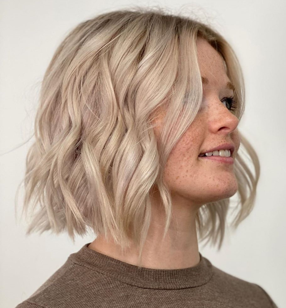 A-Line Bob Cut with Defined Waves
