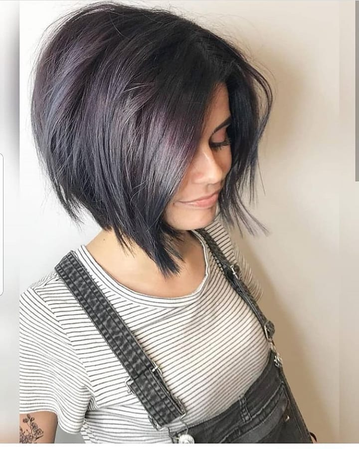 Medium Bob Hairstyle for Small faces