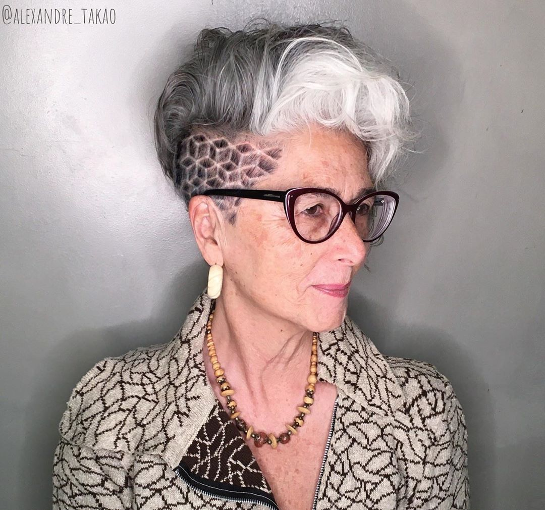 Short Hairstyles and Glasses for Women over 60