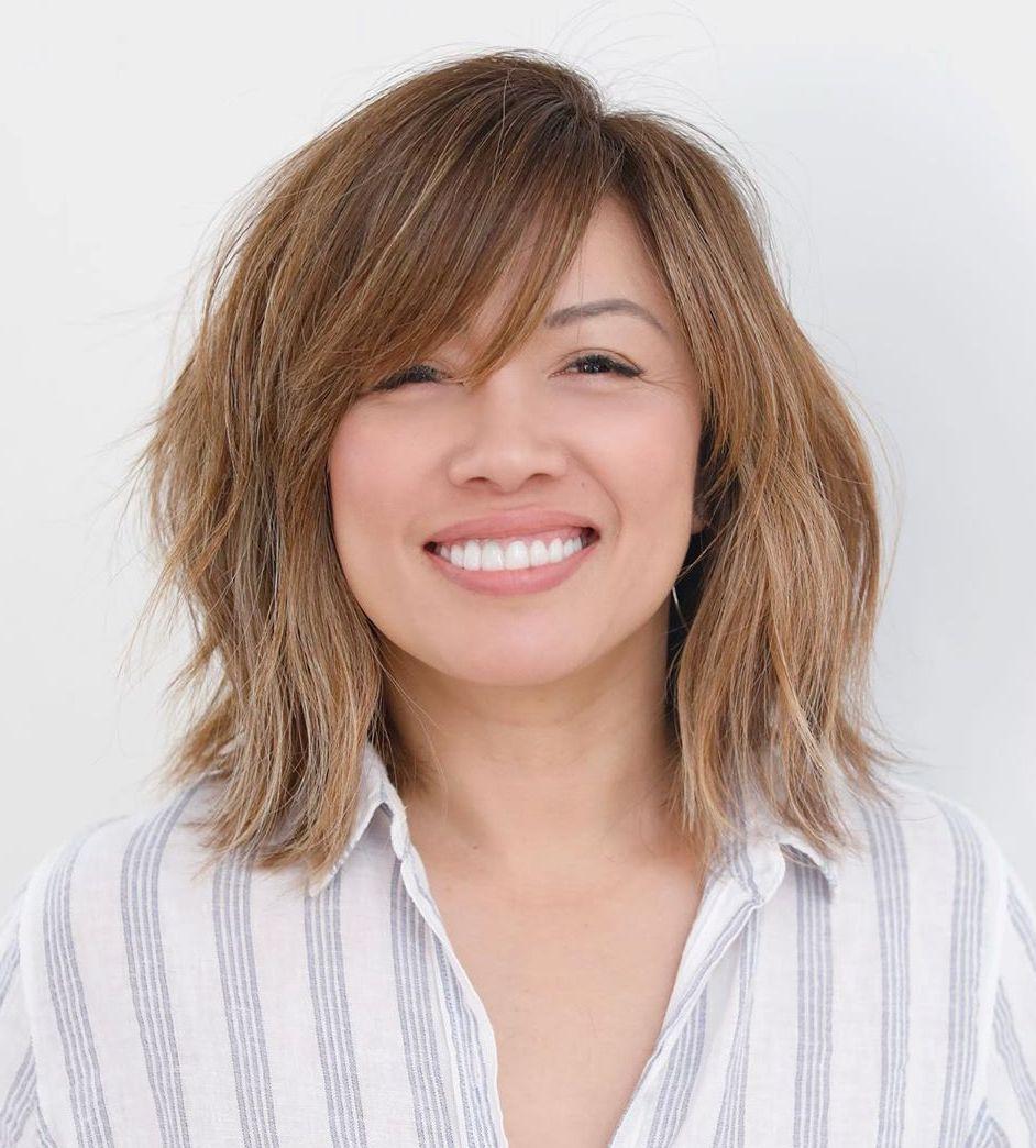Medium Hairstyle for High Cheekbones