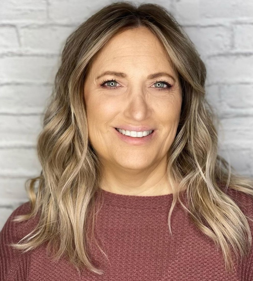 Blonde Balayage for Middle-Aged Ladies