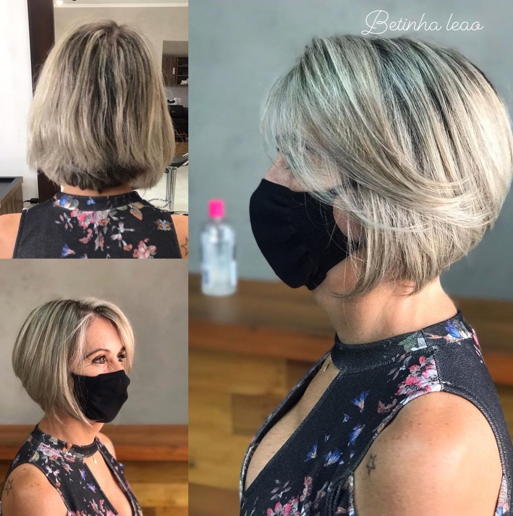 Over 60 Stacked Bob Cut