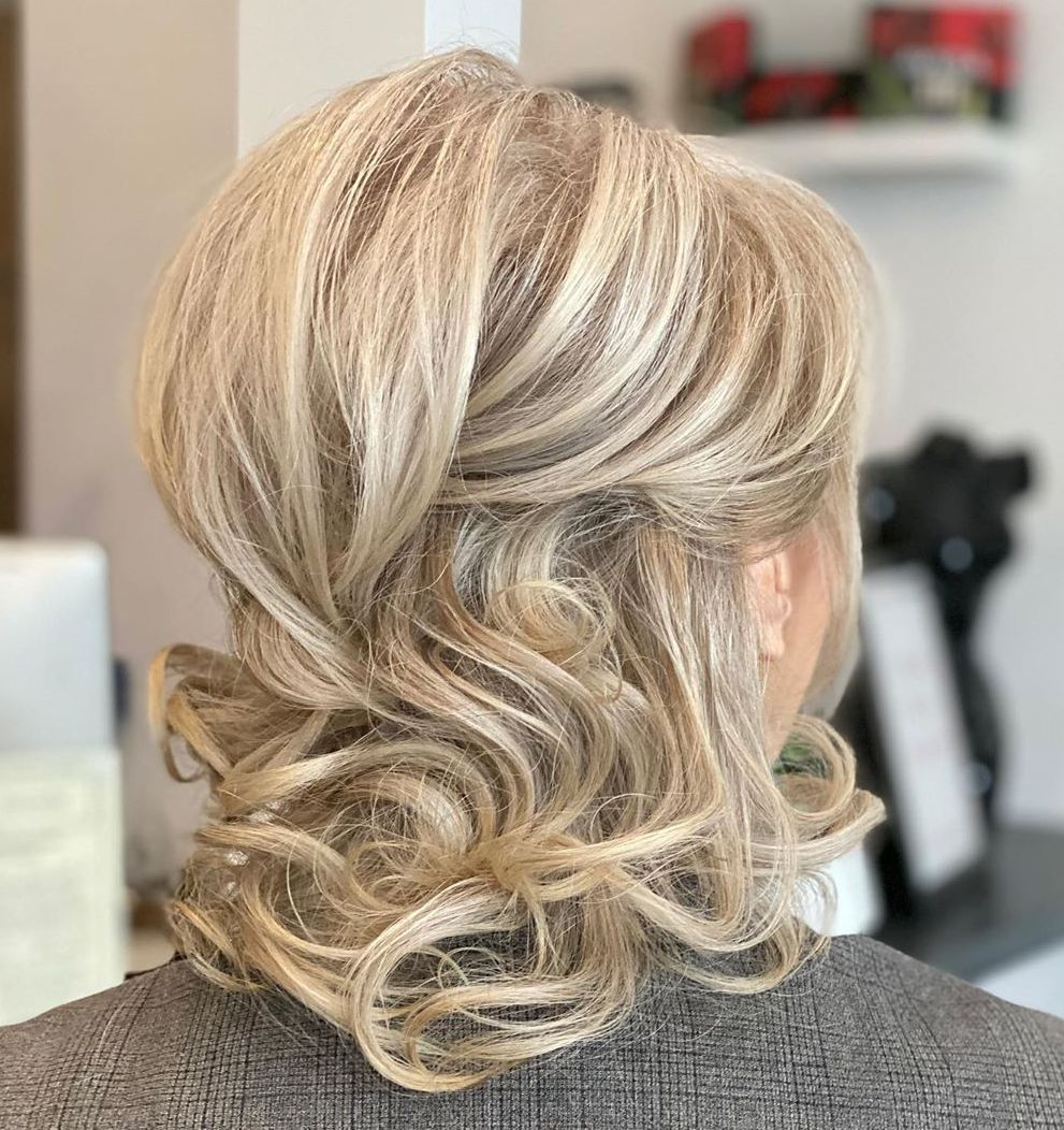 Easy Half Updo with a Bouffant