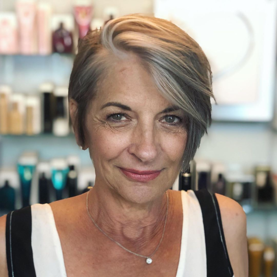 Gray Hairstyle for Short Fine Straight Hair