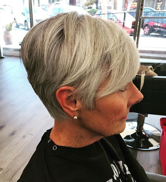 Short Layered Gray Cut
