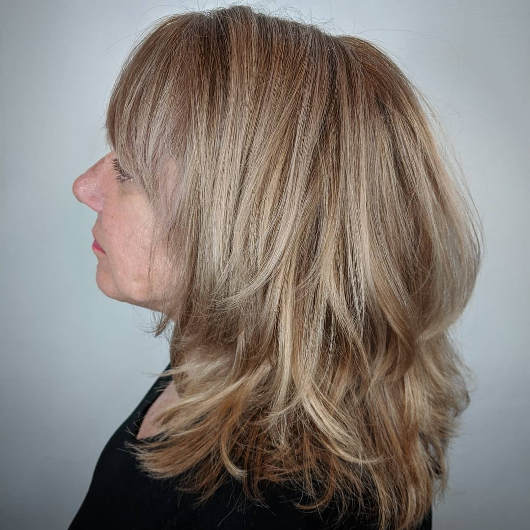 Brown Blonde Hair for a 60 Year Old Woman