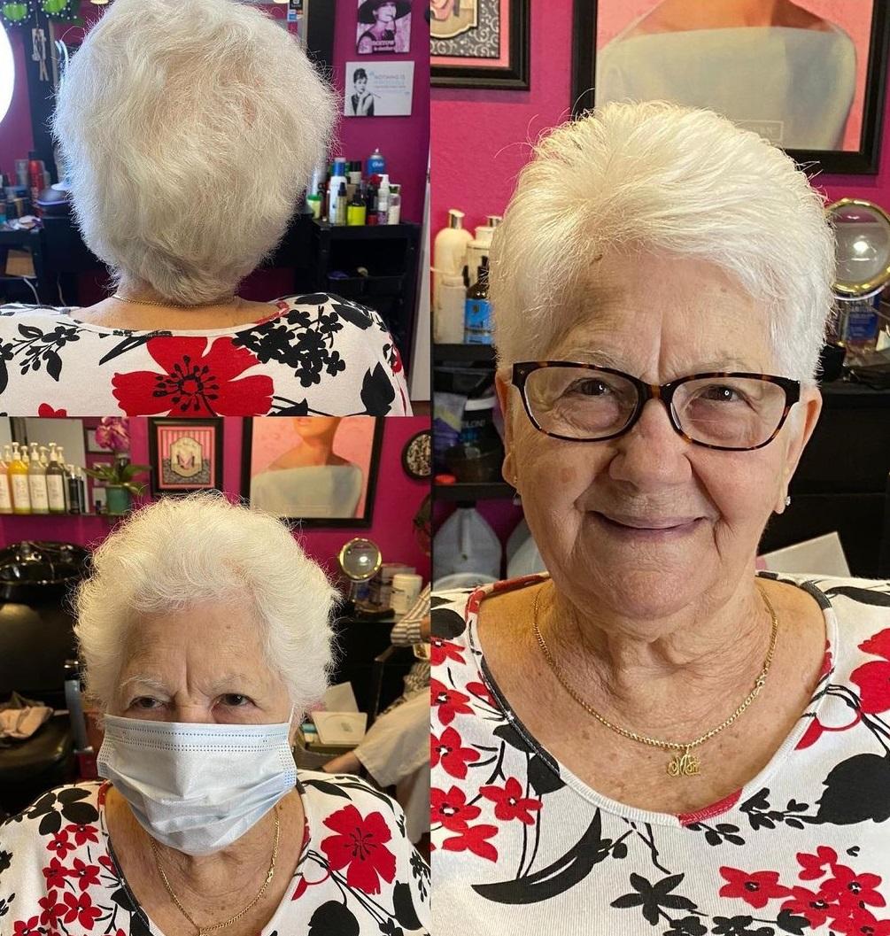 60+ Short Silver Cut for Fine Hair