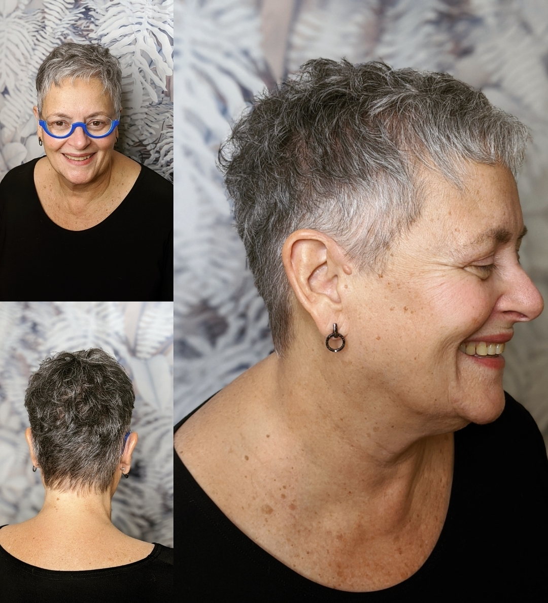 Cute Gray Pixie for Older Women